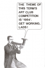 Poster for 'Art Club' competition at Watford Boys' Grammar School