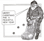 Front cover of Christmas card for STAND (St Albans Nuclear Disarmament Campaign)